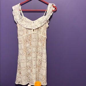 White and tan summer  xoxo dress